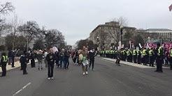 Pro LifeMarch vs Counter Protest