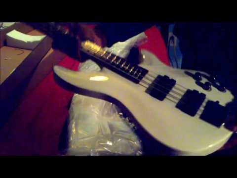 Schecter SGR C-4 Electric Bass Guitar White - Unboxing