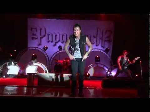 Papa Roach - Burn live, Rock Allegiance Tour 2011, Nashville