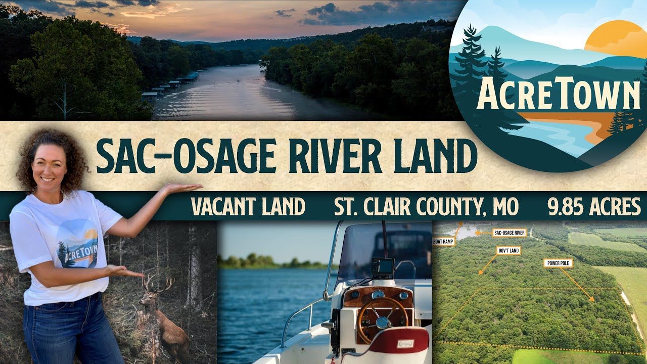 Sac-Osage River Land For Sale | 9.85 acres | No Restrictions | Borders Government Land & River!