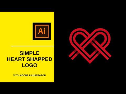 illustrator logo  - easy heart shape logo design thumbnail