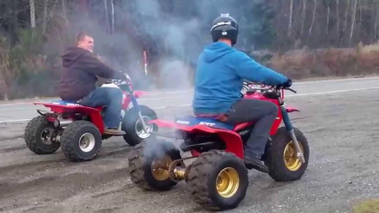 Honda 250r vs Honda 350x 3 wheelers - YouTube