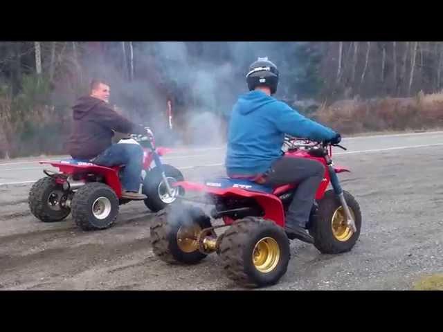 Honda 250r Vs Honda 350x 3 Wheelers Youtube