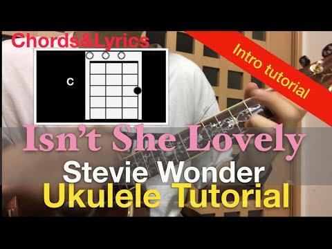 Lv.3 Isn't she lovely- ukulele chords tutorial