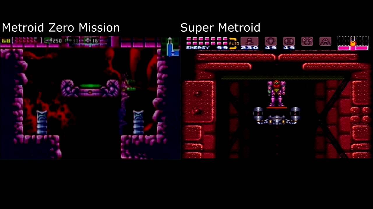 Crateria Brinstar Comparison Metroid Zero Mission Super Metroid