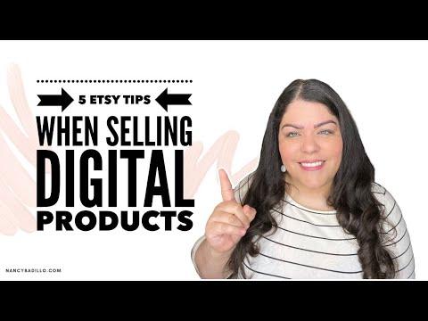 5 Etsy Tips When Selling Digital Items - Etsy Tutorial