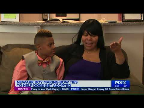 Sylvia Chacon - 12 y/o Boy Makes Bow Ties to Help Dogs Get Adopted Across the Country.