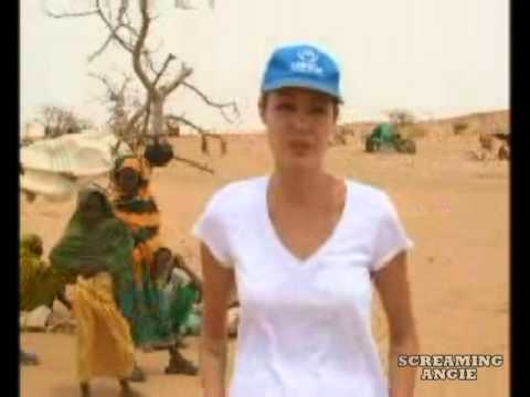 "Angelina Jolie in Chad "" World refugee day ""2004"