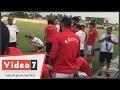 المنتخب يصل ملعب وزارة الرياضة بالجابون لخوض تدريباته المسائية