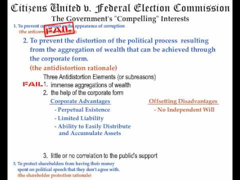 A First Amendment Analysis of Citizens United v. Federal Election Commission - Part 2 of 3