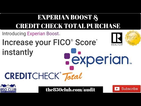 The New Credit Check Total & Experian Boost W/Phone/Utility Bill - Credit Monitoring Services,MyFICO