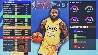 DEMIGOD LEBRON JAMES Build In NBA 2K20! BEST Small Forward Build 2K20!