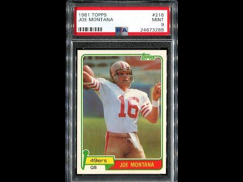 My Football Card Collection #14 1981 Topps Joe Montana Rookie RC, 1985 Montana (09-17-16) Foo3112