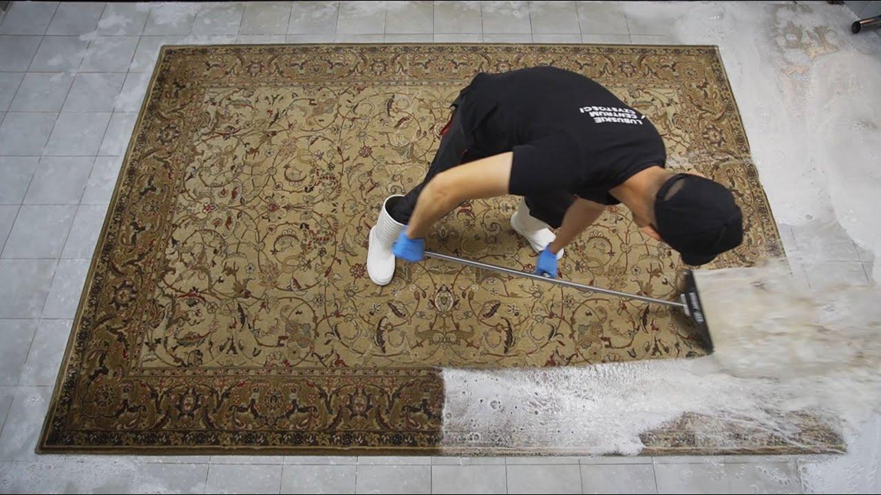 Pranie BARDZO DUŻEGO wełnianego dywanu w przepiękne wzory. Teraz jest puszysty a kolory ożyły 💪😍💦