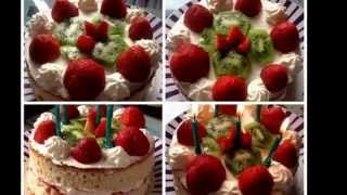 How To Make ....... A Simple Cream & Fruit Cake
