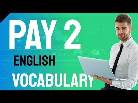English Vocabulary -pay