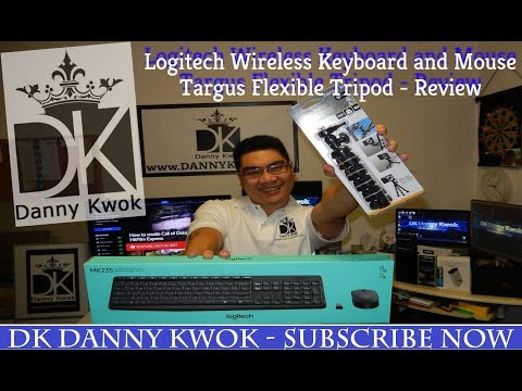 Logitech Wireless Keyboard & Mouse and Targus Grypton Flexible Tripod - Review