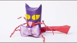 Tuvalet kağıdından Kedi yapalım / Let's make a Kitty with toilet paper rolls