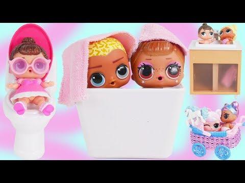 LOL Surprise Dolls Open New Fancy Custom Bathroom Furniture | Diaries Episode