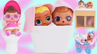 LOL Surprise Dolls Open New Fancy Custom Bathroom Furniture | Diaries Episode