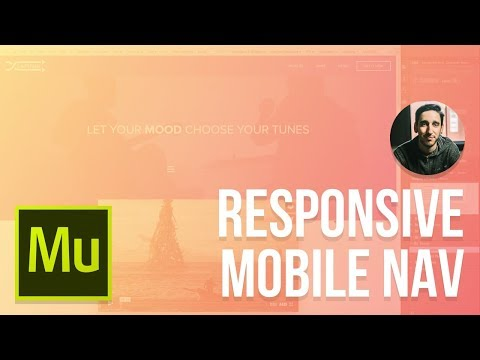 Adobe Muse 2016 Tutorial | Responsive Mobile Navigation Menu