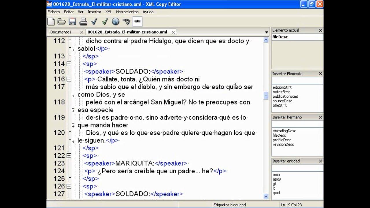 umh1471 2012-13 Lec408 XML Copy Editor en 20 minutos - YouTube