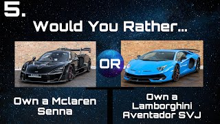Would You Rather? Cars Edition
