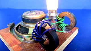 How to make project Free energy magnet Coil with light bulb - Easy at home
