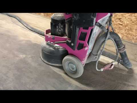 How to Make Sealed Concrete. Concrete Grinding and Sealing of Old Concrete.