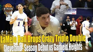 LaMelo Ball Crazy Dimes Drops Triple Double With Ease In Cleveland Season Debut vs Garfield Heights