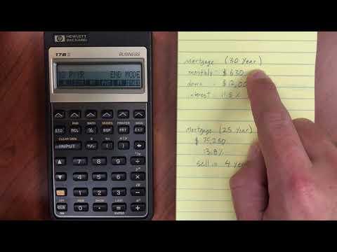 HP 17BII Finance Menu - Time Value of Money