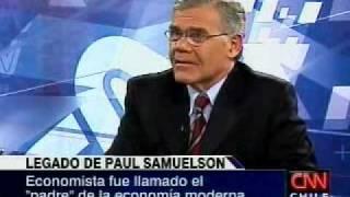 Economista de la Universidad Mayor habla del legado de Samuelson