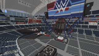 Minecraft - MEGABUILD - Wrestlemania 32 in AT&T + DOWNLOAD [Official]