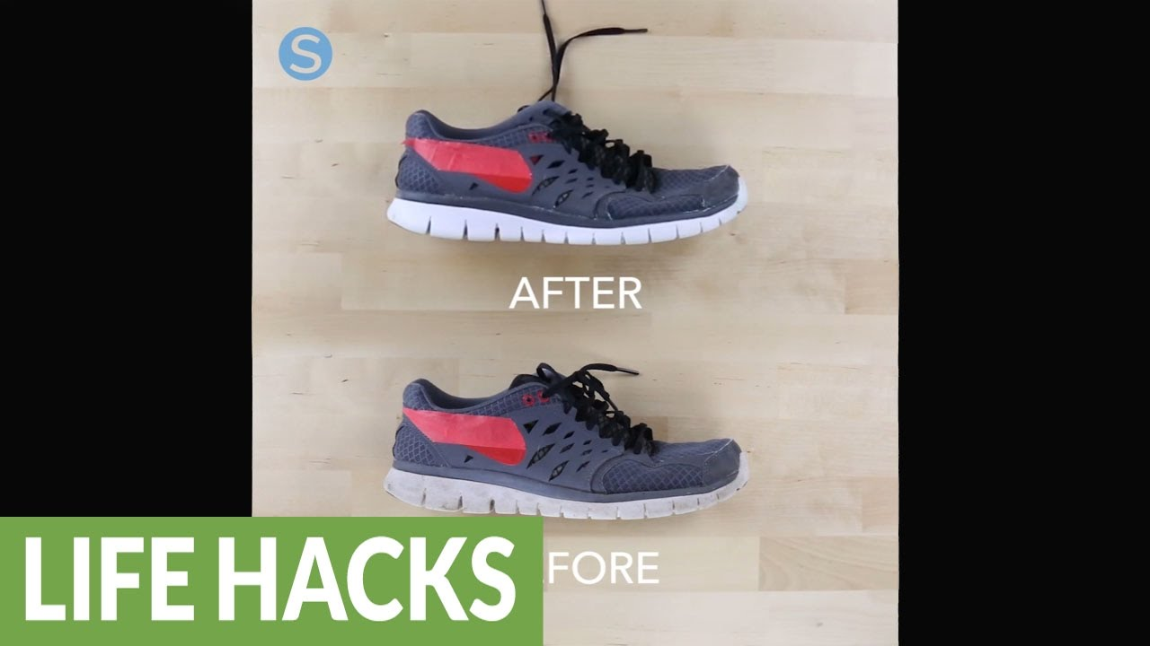 how to remove scuff marks from your shoes using toothpaste doovi. Black Bedroom Furniture Sets. Home Design Ideas