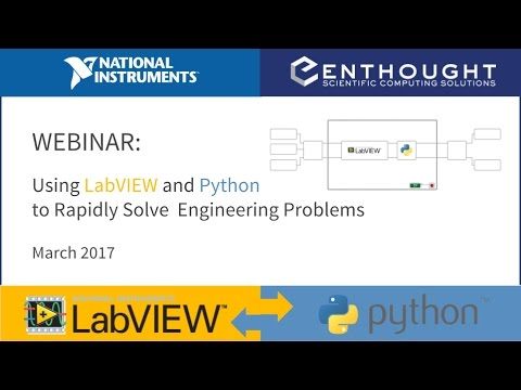 Webinar: Using Python and LabVIEW to Rapidly Solve Engineeri