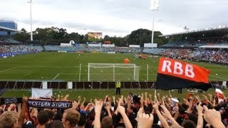 Western Sydney Wanderers vs Adelaide United - RBB chants throughout the game (21/12/2012)