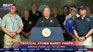 PREPPING FOR BARRY: Officials in New Orleans update ahead of storm's landfall