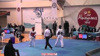 (6049) 48kg Nejat Oguzhan Tuna vs Emre Altun (2016 Turkish Junior TKD championships)
