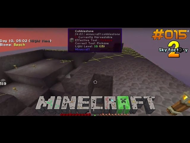 Let's Play Minecraft Sky-Factory 2 | Der Mob-Turm nimmt Form an ! | Folge #015