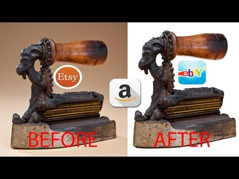 How To Create White Background For Your Ebay, Esty, Amazon Photo Listings (Using Photoshop CC) 2017