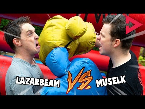 YOUTUBER BOXING! Ft. Lazarbeam, Muselk,  Loserfruit, Crayator, BazzaGazza and Marcus
