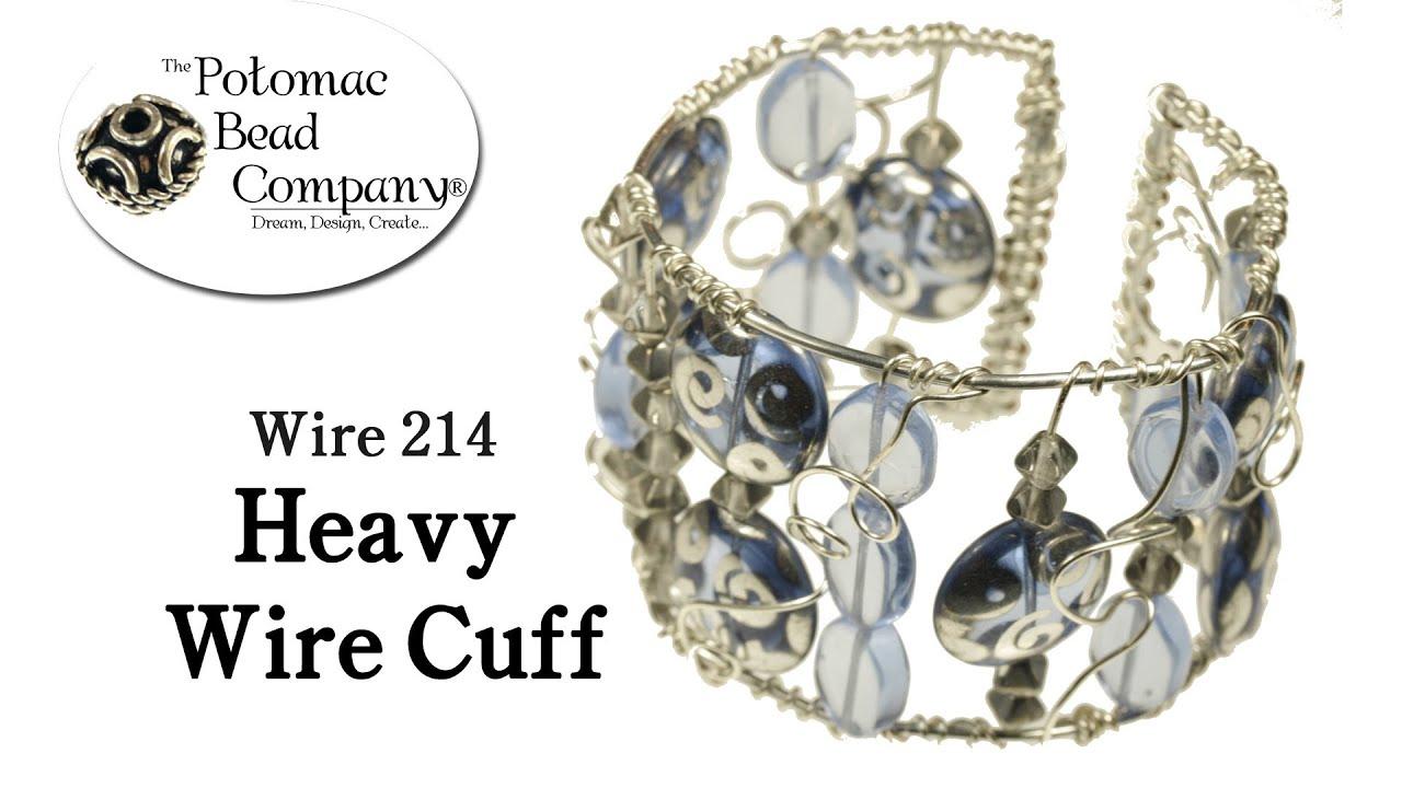 Make a Heavy Wire Cuff DIY Bracelet - YouTube