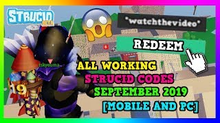 ALLE STRUCID CODES SEPTEMBER 2019 (MOBILE UND PC) | (ROBLOX)