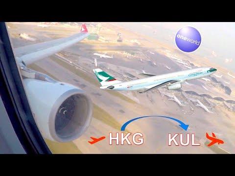 ✈︎ FULL FLIGHT ✈︎ Cathay Pacific / DRAGON AIR || Airbus A330 to Kuala Lumpur