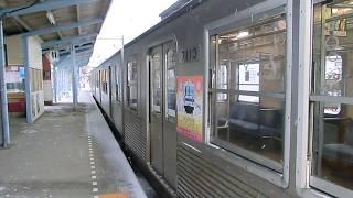 雪道を行く!!(福島交通7000系3両編成)