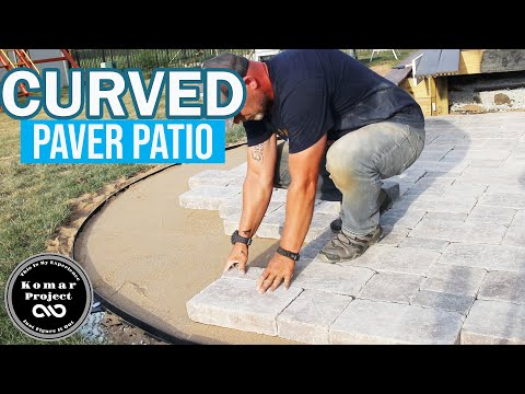 How to Prep and Build a Paver Patio with Curves and Border \\ DIY Project