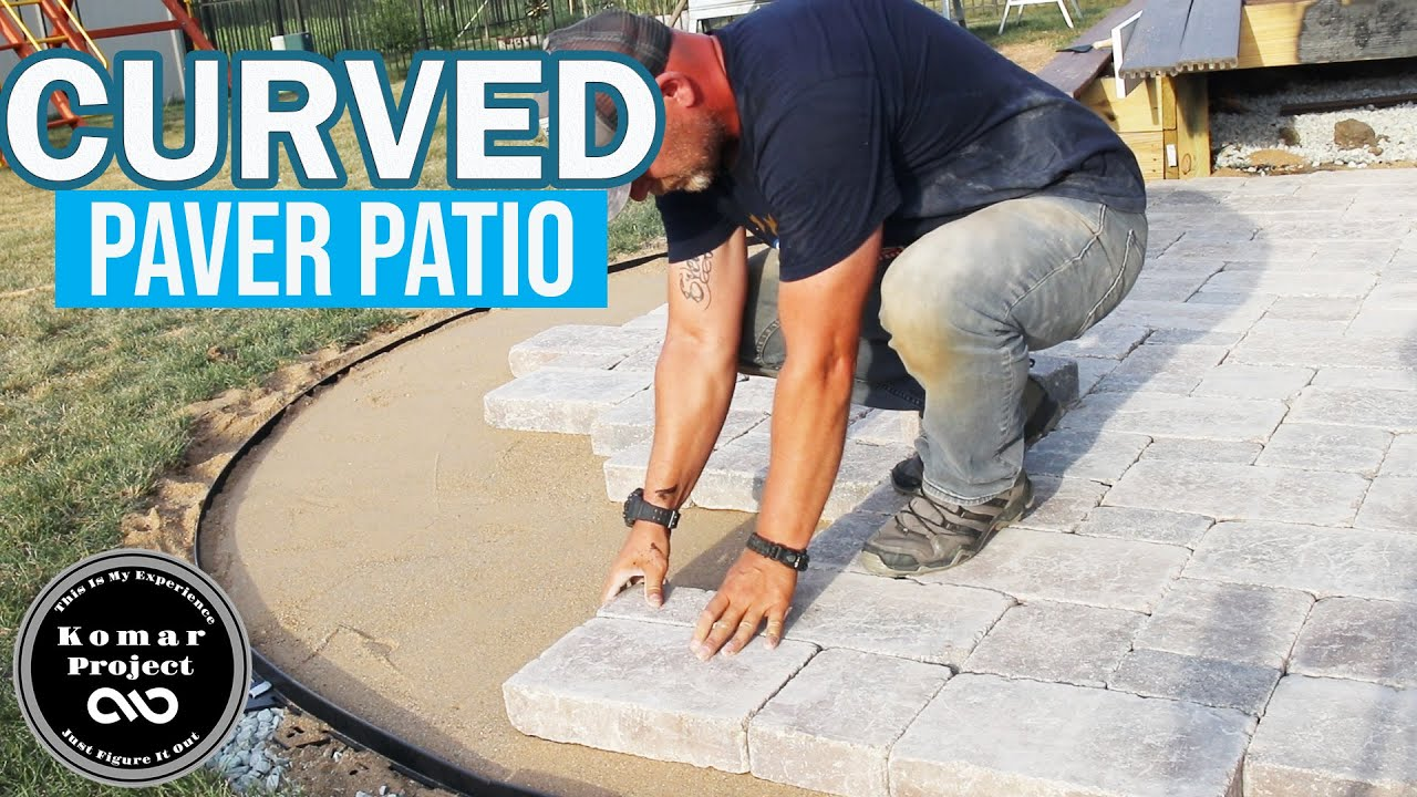 how to prep and build a paver patio with curves and border diy project