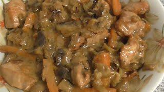 Гуляш из мяса индейки с овощами Овощи с мясом индейки