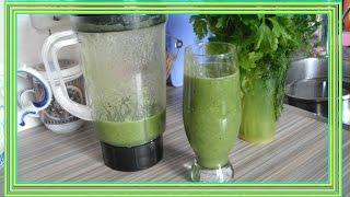 Зеленый коктейль от отеков и сжигания жира