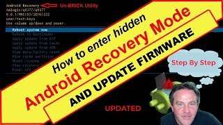 How to RESET your Android box and UPDATE FIRMWARE using ANDROID RECOVERY MODE